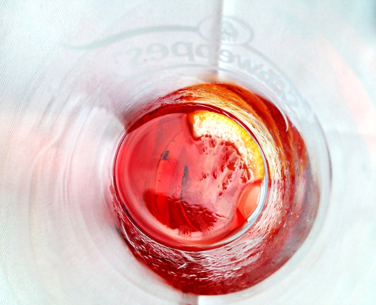 Campari in a glass © Jan Oberg 2013