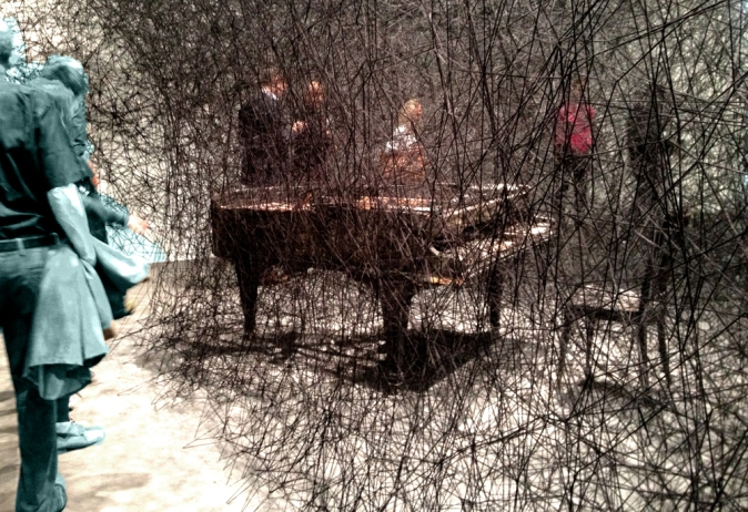 """Chiharu Shiota, """"In Silence"""" 2002/2003 - I made the other visitors green..."""
