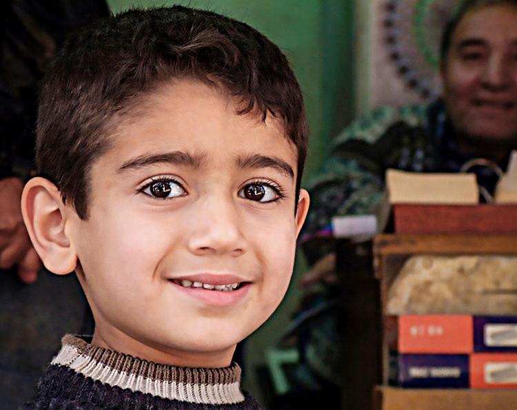 Ahmed, Baghdad 2003 - mild eyes indeed © Jan Oberg