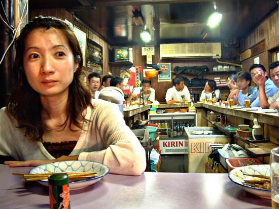 Miyo At Yakitori Restaurant - 2008 © Jan Oberg