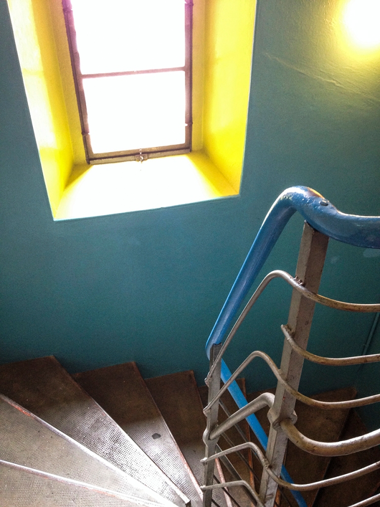 Stairway at the old brewery