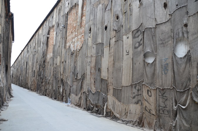 A very long art work at Arsenale